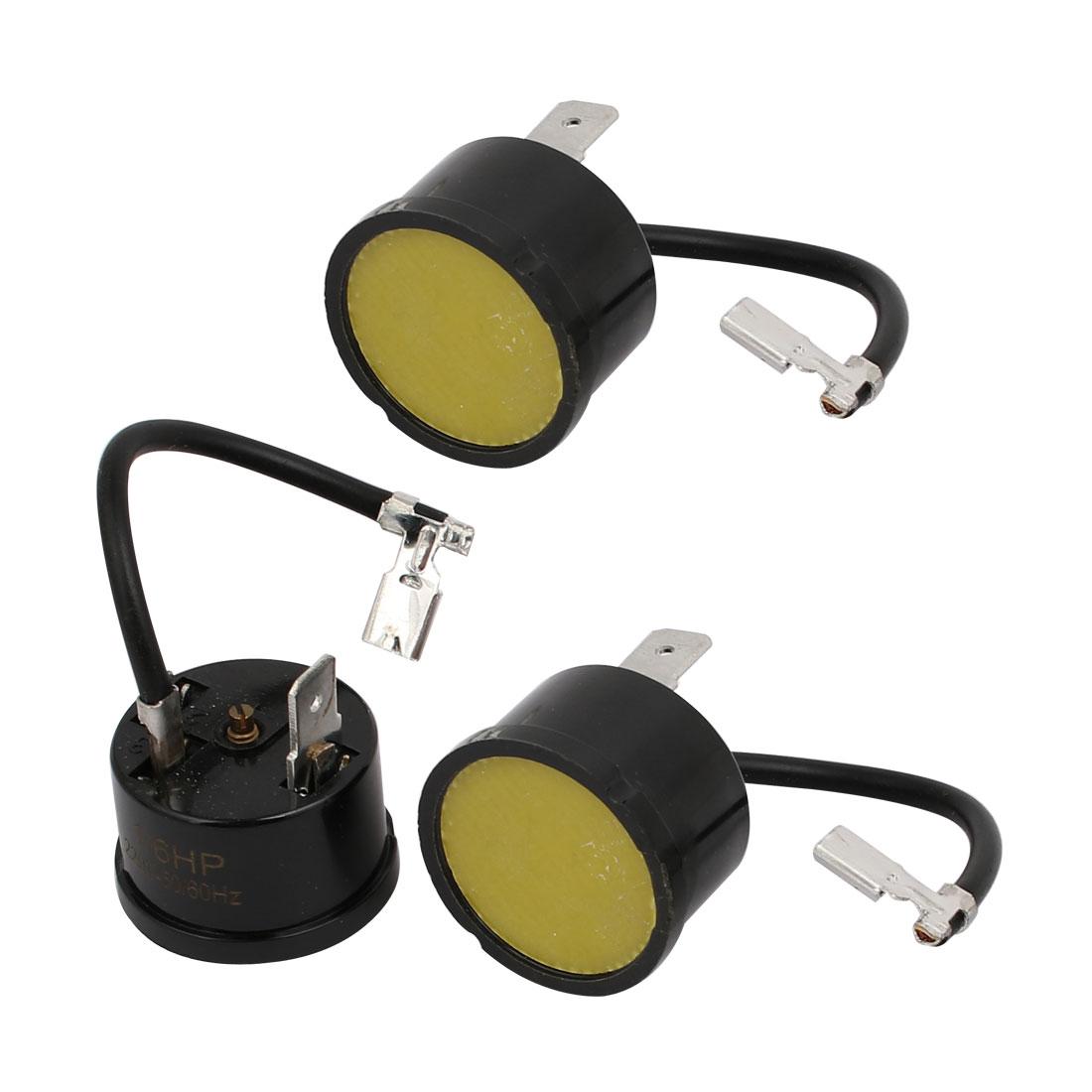 3 Pcs Overload Thermal Protector Relay Starter for 1/6 HP Fridge AC220~240V - image 3 de 3