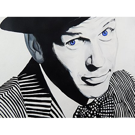 Frank Sinatra Blue Eyes by Ed Capeau 16x12 Canvas Art Print Poster Pop ArtMADE IN THE USA