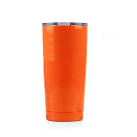 Aspire 20 Ounce Stainless Steel Tumbler, Double Walled Insulated Leak Proof Travel Cup with Resistant Lid, Keep Cold or Hot for Hours-Orange](Travel Cups)