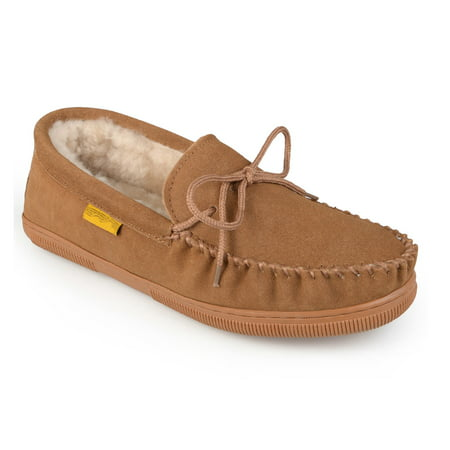 bf8053bfe79cf1 Daxx - Daxx Men's Hank Leather Moccasin Slipper - Walmart.com