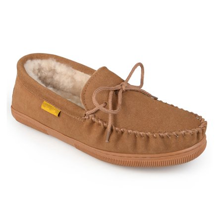 e0d20fe3c387d Daxx Men's Hank Leather Moccasin Slipper