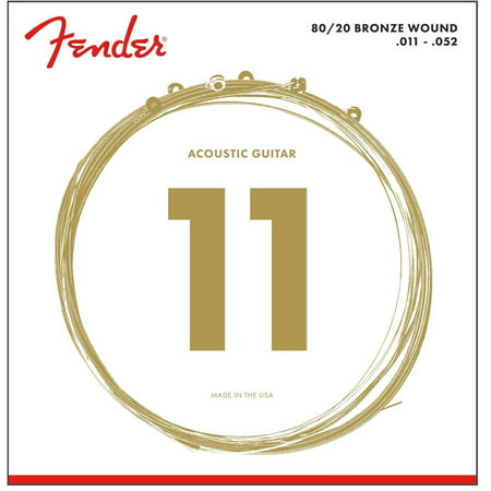 60L 0730070405 Acoustic Guitar 80/20 Ball End Strings, 11-50, Fender acoustic 80/20 bronze feature a loudness andclarity that stand out especially.., By Fender From USA