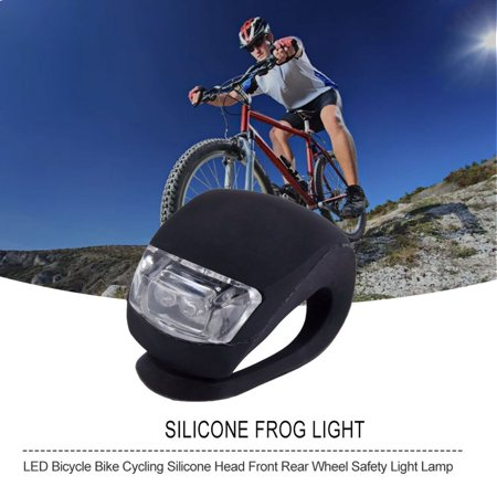 HC-TOP LED Bicycle Bike Cycling Silicone Head Front Rear Wheel Safety Light Lamp - image 6 of 6