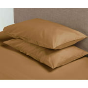 Hotel Style 600 Thread Count 100% Luxury Cotton Pillowcases, Standard, Clay Beige, 1-Pair