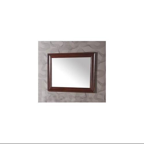 Mirror w Wooden Frame in Medium Cherry Brown Finish by Legion Furniture