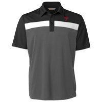 Philadelphia Phillies Cutter & Buck Chambers Polo - Black/Gray