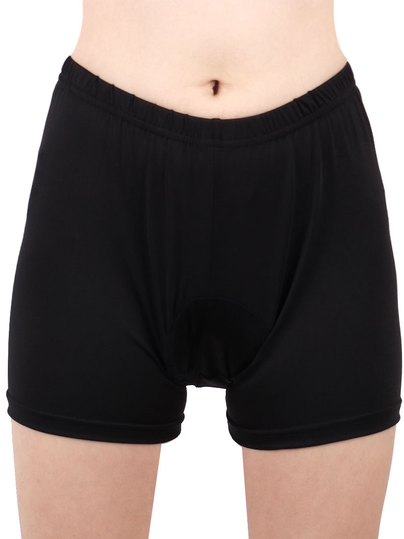 REALTOO Authorized Ladies Polyester Fiber Cycling Shorts by Unique-Bargains