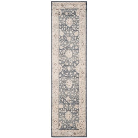 "Safavieh Vintage 5'1"" X 7'7"" Power Loomed Rug in Dark Gray and Cream - image 3 of 5"