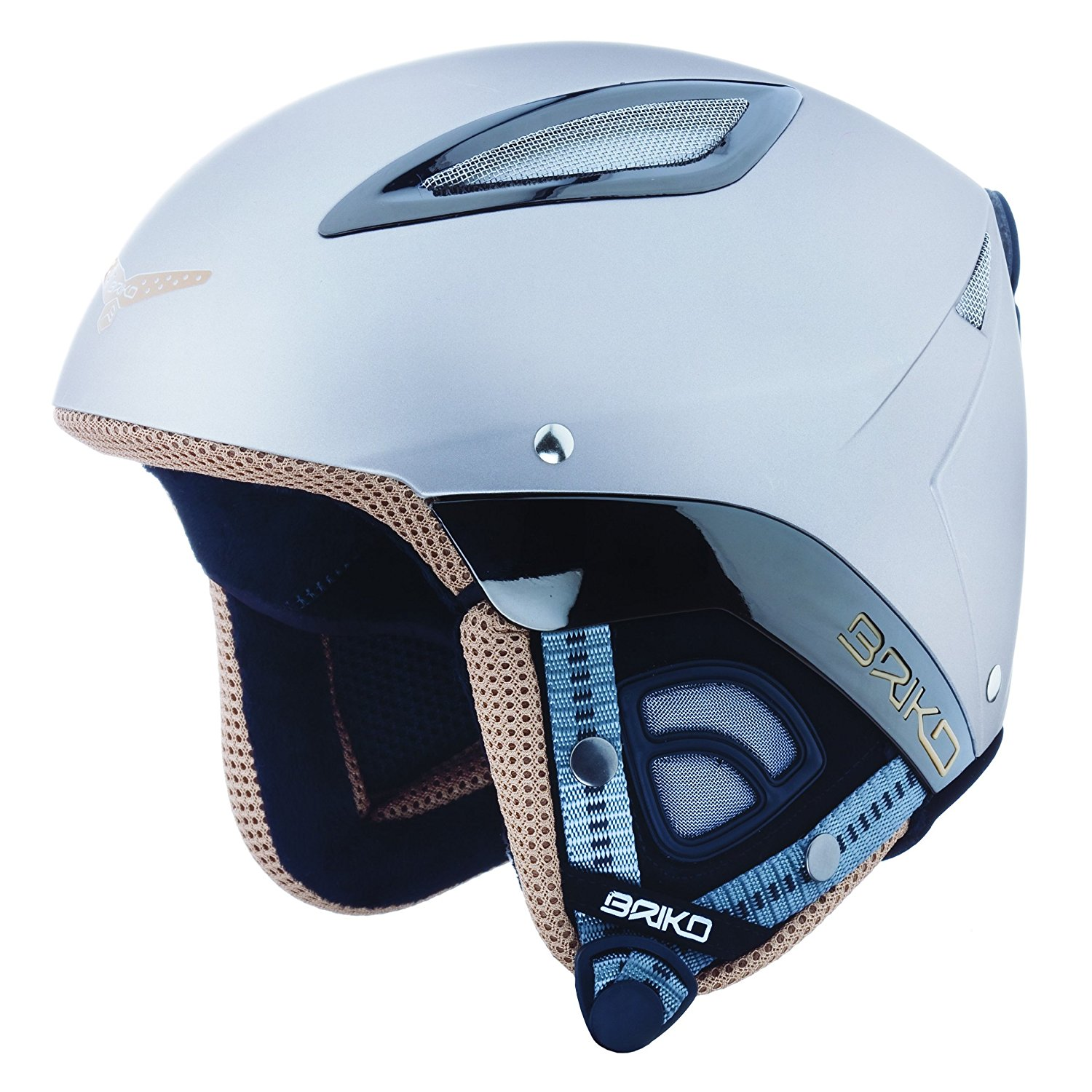 Briko Dakota Ski Helmet (Titanium, 56cm) by SOGEN SPORTS INC.