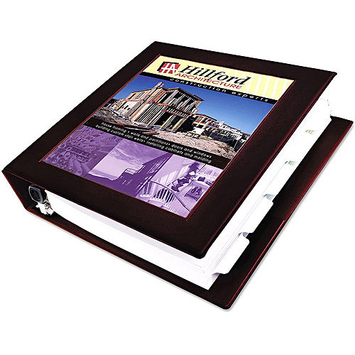 "Avery Framed View Binder with 3"" One Touch EZD Rings 68040, Maroon"