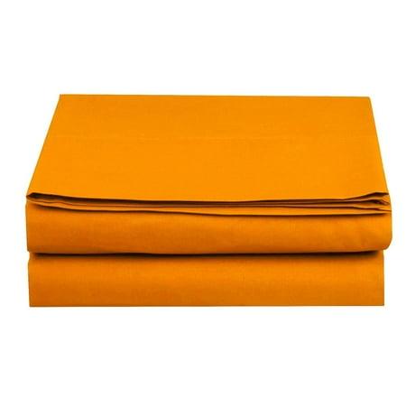 Set of 4 1500 TC Fitted Sheet, Full Size, Vibrant Orange - Orange Sheets