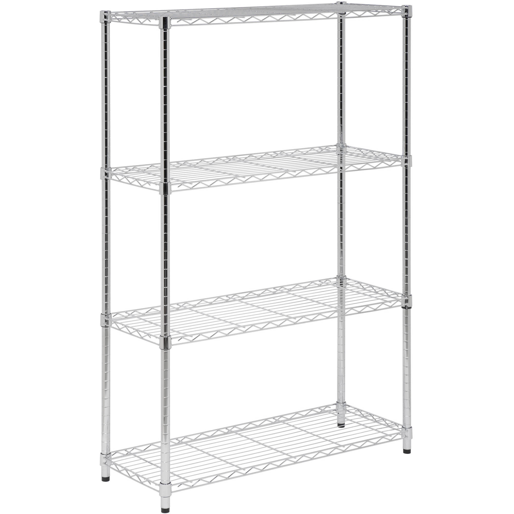 Honey Can Do 4 Shelf Steel Storage Shelving Unit, Chrome