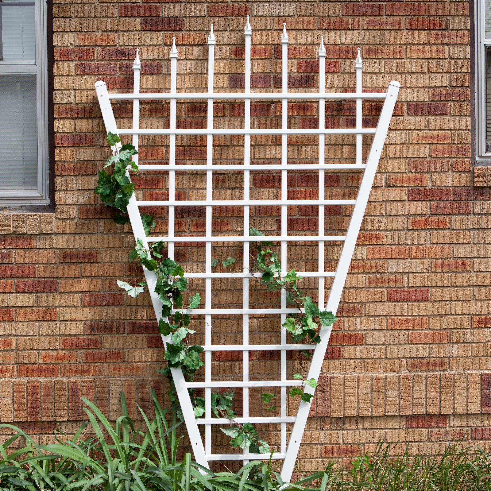 Dura-Trel 7.75-Foot White Vinyl Estate Fan Trellis by Dura-Trel