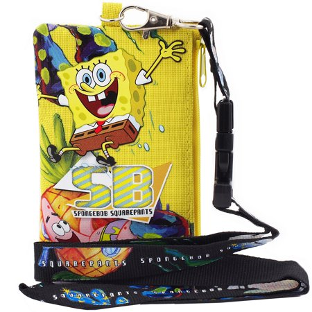 - Spongebob Yellow Lanyard with Detachable Coin Purse