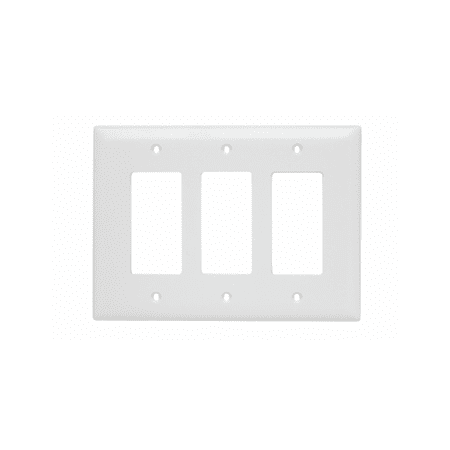 Pass & Seymour - TPJ263W Jumbo Three Gang Three Decorator White