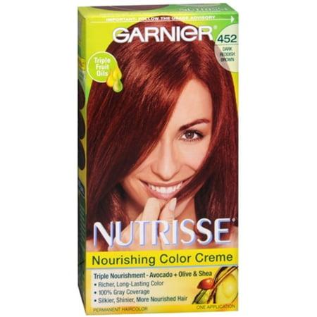Garnier Nutrisse Haircolor 452 Chocolate Cherry Dark Reddish Brown 1 Each Pack