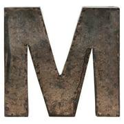"""M"" Metal Alphabet Wall Decor Letter"