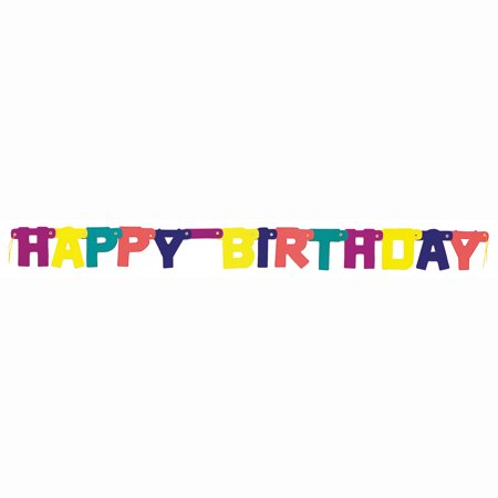 Rainbow Party Birthday Banner