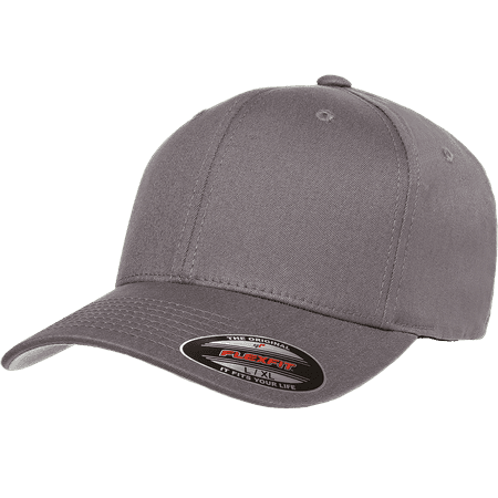 32370c4784b3d3 The Hat Pros Blank Flexfit V-Flexfit Cotton Twill Fitted Hat Cap Flex Fit  5001 Large/Xlarge – Grey - Walmart.com