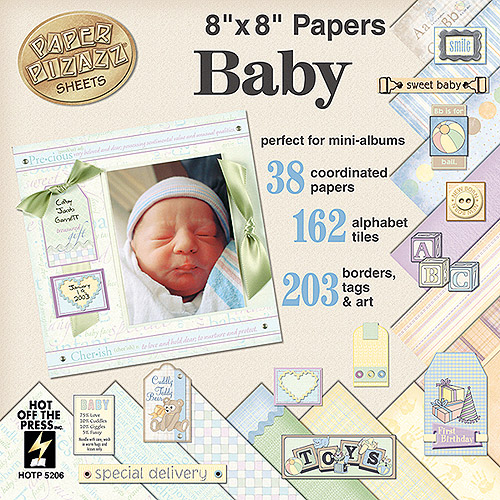 Paper Pizazz Cardstock Accent Kits, Baby
