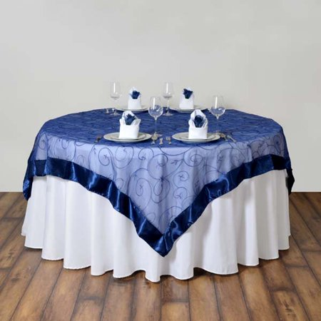 Resurrection Table Topper (Efavormart Organza Embroidered Table Overlay 85