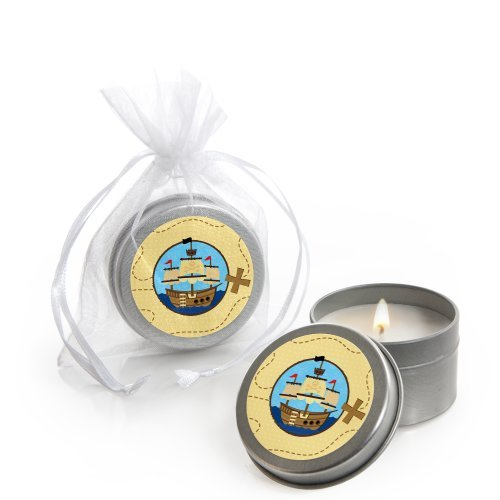 Ahoy Mates! - Pirate - Candle Tin Party Favors (set of 12)