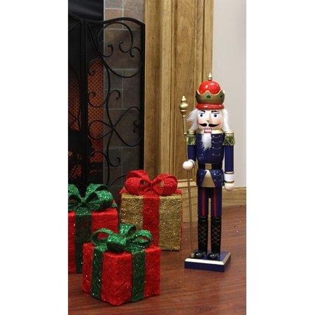 Northlight Seasonal Decorative King Wooden Christmas Nutcracker with Scepter