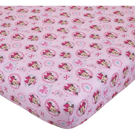 - Disney Minnie Bows are Best Crib Sheet