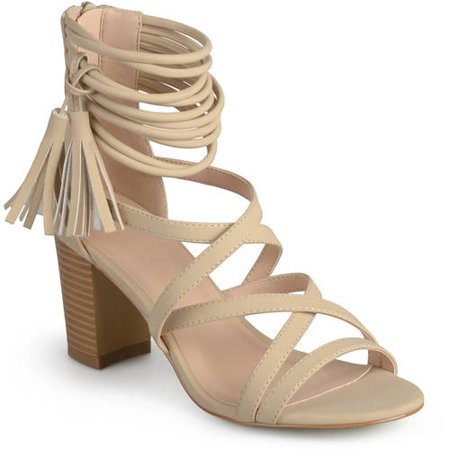 Womens Tassel Strappy High Heels ()