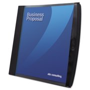 GBC Smart-View Multi-Ring Presentation Book, 12 Letter-Size Sleeves, Black/Blue