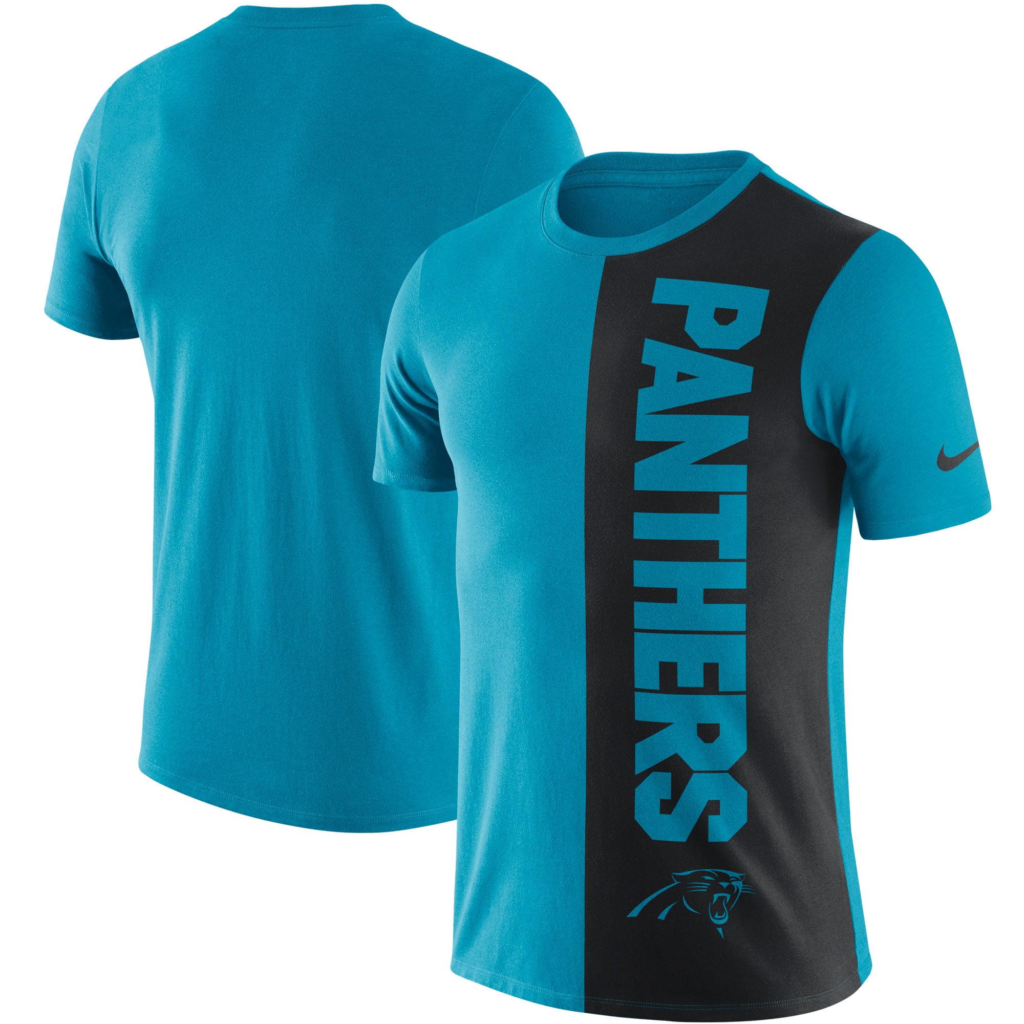 Carolina Panthers Nike Coin Flip Tri-Blend T-Shirt - Blue/Black