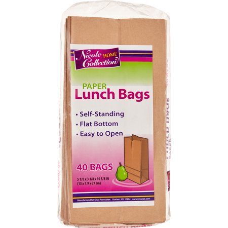 Paper Bags Wholesale (Nicole Home Collection Home Essentials Paper Lunch Bags, Brown, 40)