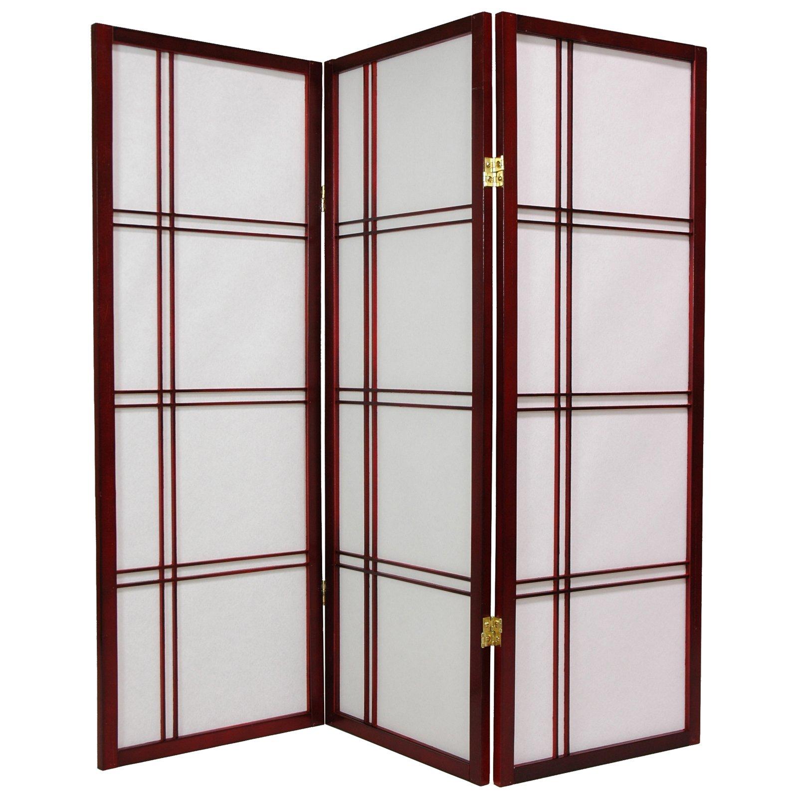 Oriental Furniture Double Cross 48 Inch Shoji Screen
