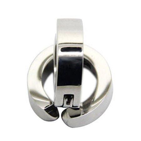 Fancyleo 2 Pairs Stainless Steel Clip Ear Non-piercing Mens Womens Fake Ear Hoops Earring Studs 2 Pair Hoop Earring