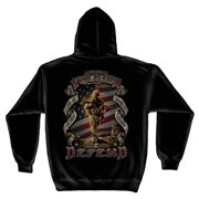 This We'll Defend American Soldier Sweatshirt by , Black, XL