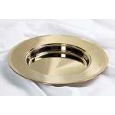 Communion Remembranceware Brasstone Bread Plate Non Stacking  Stainless Steel