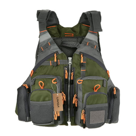 Floatation Jacket (​Lixada Outdoor Breathable Fishing Life Vest Superior 209lb Buoyancy Life Safety Jacket Swimming Sailing Waistcoat Utility Vest Floatation Floating)