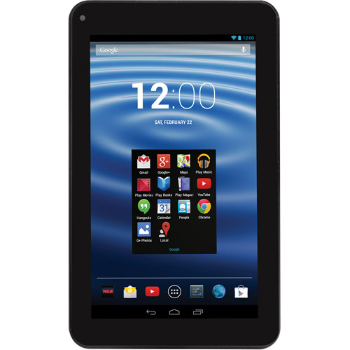 "RCA 7"" Android Tablet Black 4.2.2 Jelly Bean, 8GB, Dual Core, WiFi Capable (Black)"