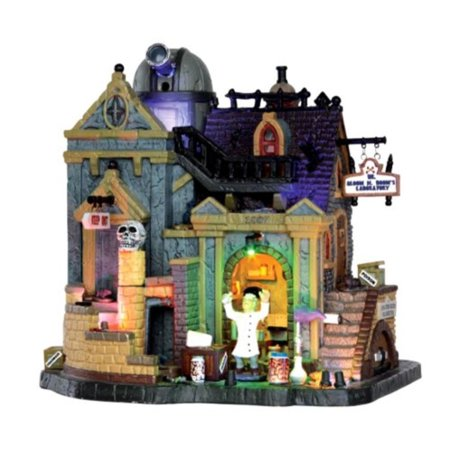 Halloween Town Revisited (Lemax 35493 Dr. Gloom N. Doom's Lhoratory Spooky Town Building Halloween)