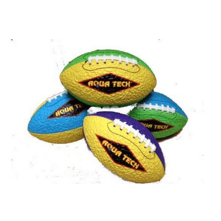 sport design fun tech football with textured grip - aqua tech