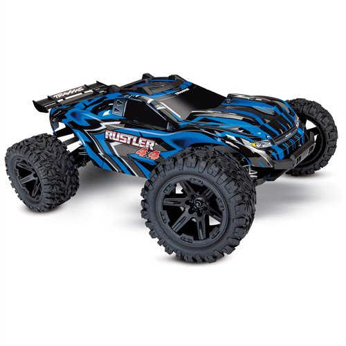 Traxxas 67064-1-BLUE Rustler 4 x 4 XL-5 Stadium Truck Ready-to-Race TQ 2 Channel by
