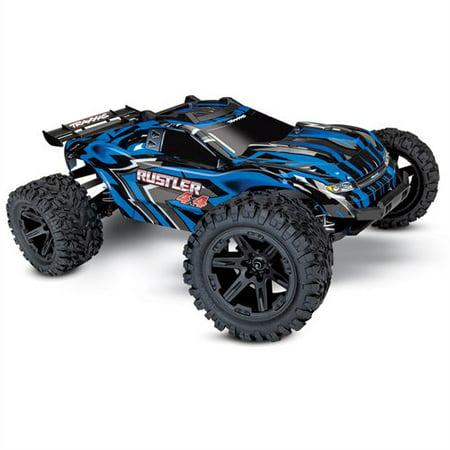 Traxxas 67064-1-BLUE Rustler 4 x 4 XL-5 Stadium Truck Ready-to-Race TQ 2 (Traxxas X Maxx Monster Truck Snap On)
