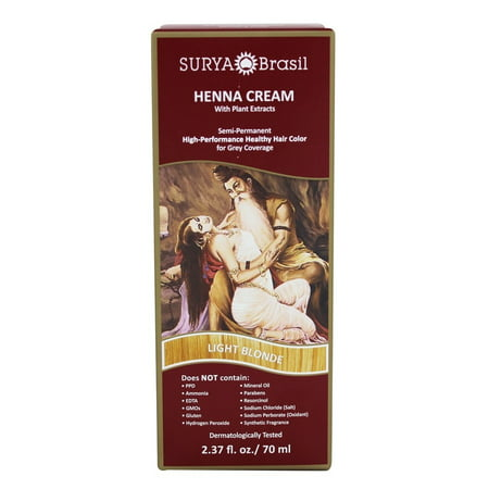 Surya Brasil - Henna Cream Hair Coloring with Organic Extracts Light Blonde - 2.37