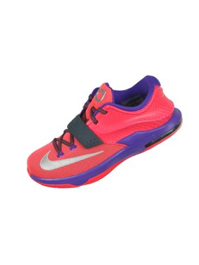 135442a5682e4 Product Image Nike Kid s KD VII GS Basketball Shoes 6.5Y Hyper Punch Grape  Grey Silver