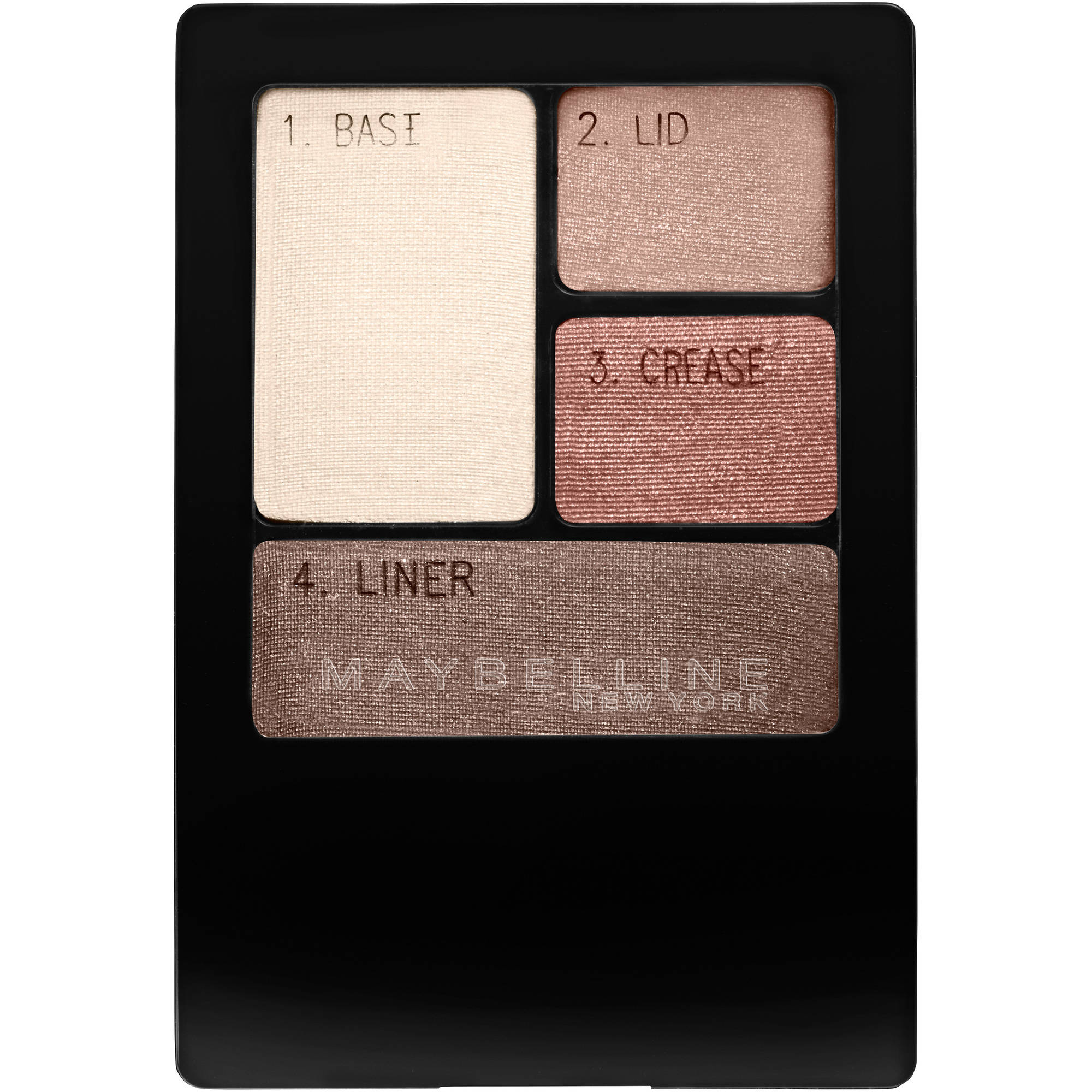 Maybelline New York Expert Wear Eyeshadow Quads, Natural Smokes, 0.17 oz