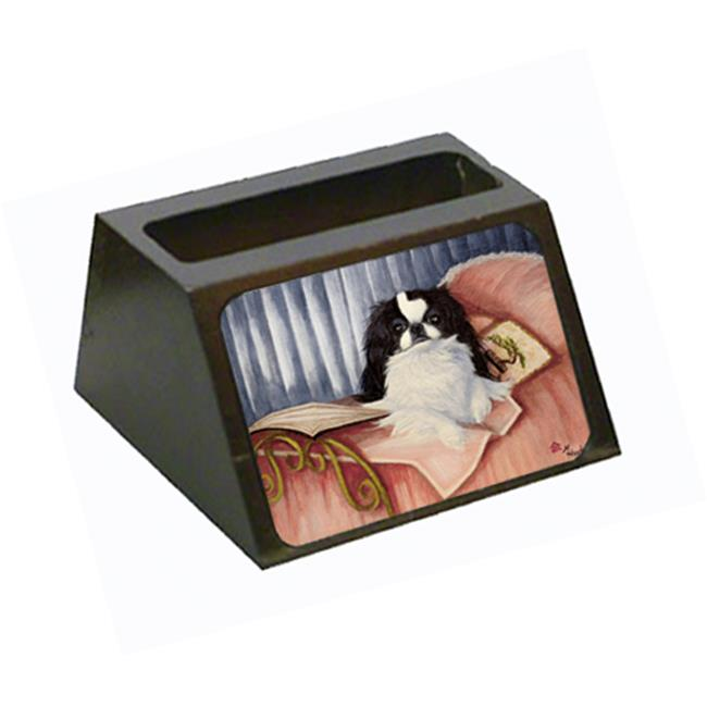 Carolines Treasures MH1058BCH Japanese Chin Reading In Bed Business Card Holder