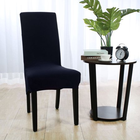 blue dining room chair covers | Spandex Stretch Dining Chair Covers Protector Washable ...