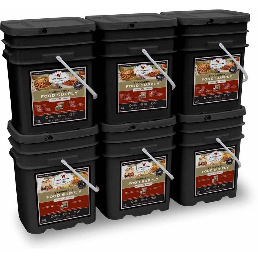 Wise 720 Servings of Emergency Survival Food Storage. 3 Month Supply for 4 Adults (2 Servings Daily)