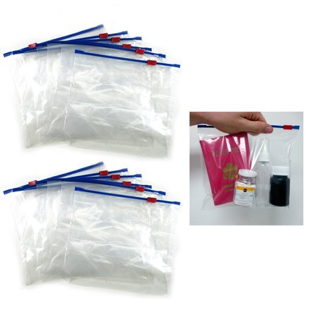 Regent Products Corp 12 Plastic Travel Bags Zipper Locking Top Seal Airline Tsa Pouch Carry On