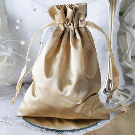 Efavormart 12PCS Satin Gift Bag Drawstring Pouch for Wedding Party Favor Jewelry Candy Solid Satin Bags - 5
